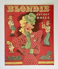 """BLONDIE"" 1945 WHITMAN UNCUT PAPER DOLLS VINTAGE"