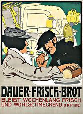 Art ad Dauer Alimentos Frescos Pan Cocina Deco cartel impresión