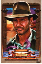 Hal Betzold SIGNED Indiana Jones Raiders of the Lost Ark Art Print Harrison Ford
