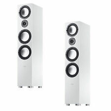 Canton GLE 496 Floor Standing Speakers Made in Germany as Pair - White