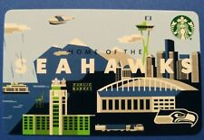 "Starbucks gift card 2020 "" SEATTLE 🏈 SEAHAWKS "" STADIUM & CITY~🔥VHTF🏈 NO $$"