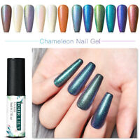 FOUR LILY 5ml UV Gel Polish Chameleon Glitter Nail Art Soak Off Gel Varnish DIY