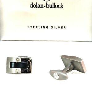 Dolan Bullock Sterling Silver 18K Titanium S. Steel cufflinks in Box Retail $275