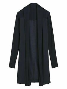 Athleta Compact Coaster Long Wrap Sweatshirt Black NWT $89 S Small