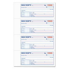 TOPS Money and Rent Receipt Books 2-3/4 x 7 1/8 Two-Part Carbonless 400 Sets