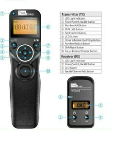 PIXEL TW-283 L1 Wireless Release Remote Control Wired Shutter Release Cable...