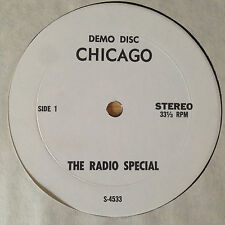 ULTRA-RARE CHICAGO LP THE RADIO SPECIAL SHOW DEMO DISC WHITE LABEL UNAUTHORIZED