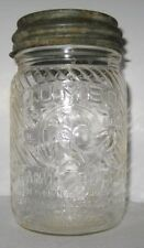 Old Glass Peanut Butter Jar w/Lid - Jumbo Character Elephant Cincinnati Ohio