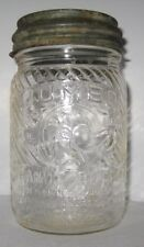 Old Glass Peanut Butter Jar w/Lid - Jumbo Character Elephant Cincinnati Ohio
