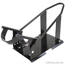 Motorcycle Wheel Chock Cradle Scooter Bike Stand Lift Mount Trailer Truck Bed