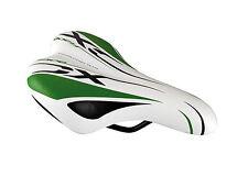 Sillin Niño para Bicicleta Junior Anatomico y Ergonomico Verde Negro Blanco 3423