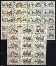 CZECHOSLOVAKIA 1981 HORSE COACHES sc.#2343-47 x10 MNH cv$70.00 WHOLESALE