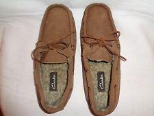 clarks men's black slippers