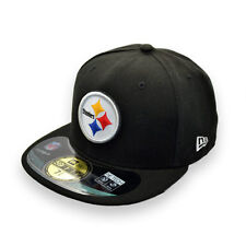 NEW ERA PITTSBURGH STEELERS NFL BLACK FITTED CAP 7 3/8 (58.7cm)