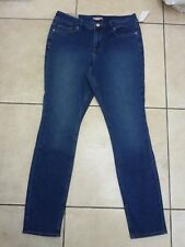 H&M Plus 5 Pocket Stretch Trousers Jeans Size 18 UK Denim Blue