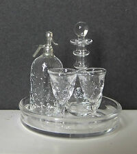 Dolls house miniatures: beautiful crystalline drinks set