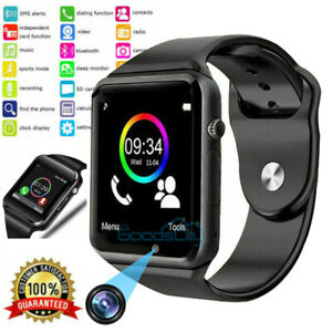 NEW Waterproof Bluetooth Smart Watch w/Cam Phone Mate For IOS Android