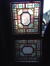 Sg 108  Antique Victorian Jeweled Beveled Windows