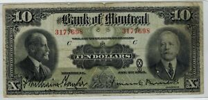 Canada - 1923 The Bank of Montreal - $10 Banknote - Fine -