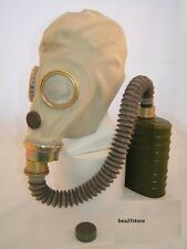 NEW MUA GAS MASK WITH VOICE CHAMBER SEALED FILTER AND HOSE  EXCELLENT CONDITION