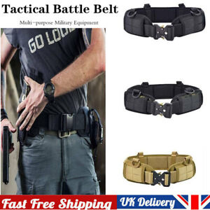 Tactical Molle Waist Belt Military Padded Patrol Molle Combat Battle Belt UK