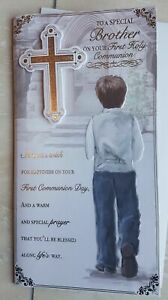Nephew Brother First Holy Communion Card