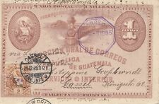 Guatemala: 1895: post card to Kassel