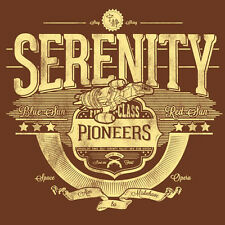 FIREFLY / SERENITY Pioneers Browncoats Joss Whedon Artwork NEW TEEFURY T-SHIRT