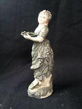 Antique very old German lady w fruitbasket H 11 cm. Old mark. Collectors item