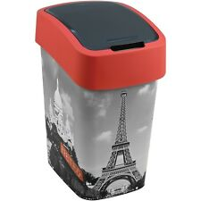 Curver Abfallbehälter 25l Schwingdeckel Mülleimer Flip Bin City Of Paris Motiv
