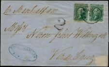 #68 PAIR ON FOLDED LETTER EX-GRIMNELL TO MEXICO BP7109