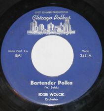 "Eddie Wojcik 7"" 45 HEAR Bartender Polka CHICAGO POLKAS It's All Right Polka"