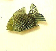 Fisch Tierfiguren  Fisch Miniaturen Turmalin grün Verdelith Sammeltiere