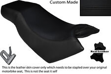 BLACK STITCH CUSTOM FITS KYMCO CK PULSAR 125 OLD SHAPE DUAL LEATHER SEAT COVER