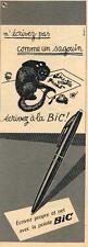 PUBLICITE ADVERTISING   1952   BIC  stylo bille dessin JEAN EFFEL