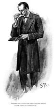 """Sidney Paget drawing of Sherlock Holmes for Strand Magazine 11"""" x 17"""""""
