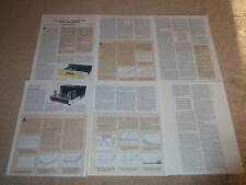 Sonic Frontiers Line 1 Pre,Amp REVIEW,6 pgs,Tube,RARE