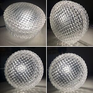 Vintage Mid Century Hobnail Cut Clear Glass Ceiling Wall Light Replacement Shade