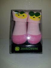 JOHN DEERE  NEWBORN 0-6 MONTHS PINK BOOTIES-NEW IN BOX