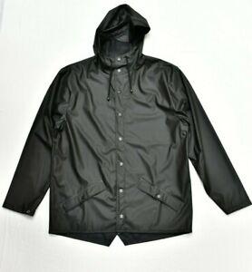 New RAINS Short Jacket Coat Waterproof in Black Size M/L