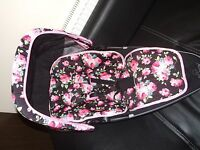Quinny buzz/moodd/zapp xtra floral  black/pink , liner/hood cover/bar cover/pads