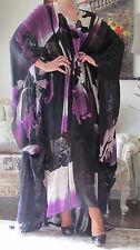 EMILIO PUCCI Runway 100% Silk,Lace Butterfly Kaftan/Dress IT 38-46 ( Free Size)