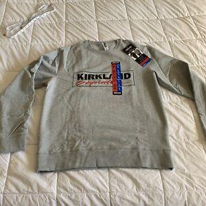 Kirkland Signature Unisex Logo Fleece Crewneck Sweatshirt Pullover MEDIUM/LARGE