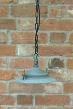 GHISA GEC anni 1950 fabbrica Industriale Vintage Ciondolo Luce/Lampada nuovamente cablati