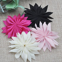 Upick 10pcs Cute Ribbon Flowers Wedding Sewing DIY Crafts Appliques E19