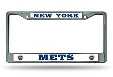 New York Mets BOLD Premium Chrome Frame Metal License Plate Tag Cover Baseball