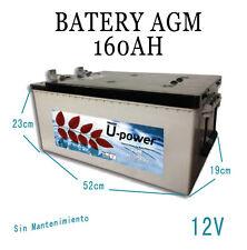Bateria Solar Fotovoltaica AGM 160AH 12v alta calidad
