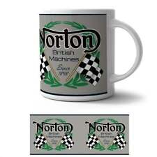 The Original Metal Sign Co Retro Art Mug Norton British Machines