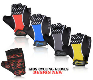 3S KIDS BOYS GIRLS PADDED CYCLING SCOOTER BMX BIKE GLOVES CYCLE BICYCLE NEW