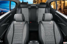 For Vauxhall Opel PU Leather Grey Breathable Fabric Luxury Full Set Seat Covers